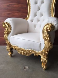 Rent Atlanta gold Baroque King & Queen Throne Chair