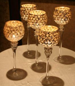 atlanta gold honeycomb candle holder