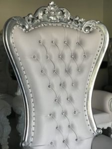 Rent Atlanta Silver Baroque King & Queen Throne Chair