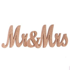 rent rose gold glittery mr and mrs sign Atlanta