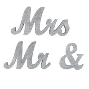 rent silver glittery mr and mrs sign Atlanta