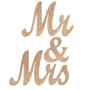 rent gold glittery mr and mrs sign Atlanta