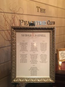 Order wedding reception seating chart Atlanta
