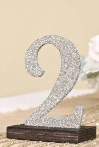 rent silver glitter table numbers Atlanta