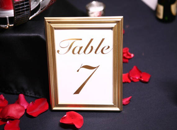 rent gold framed table numbers Atlanta