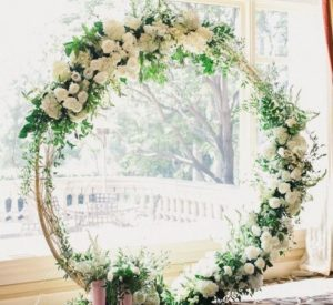 Circle arch ceremony Atlanta, hoop arch ceremony, round arch ceremony rental