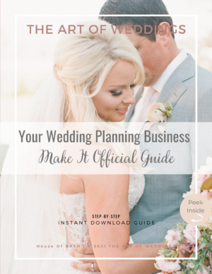 register your wedding planning business