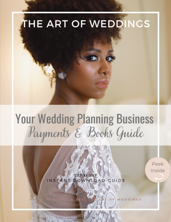 Contracts and take payments for wedding planners