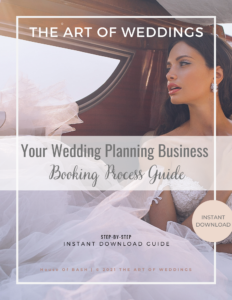 wedding planning business booking process guide