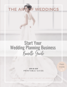 how to start your wedding planner business