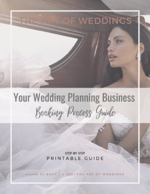 How to book clients for your wedding planning business