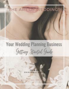 start your wedding planning buisness
