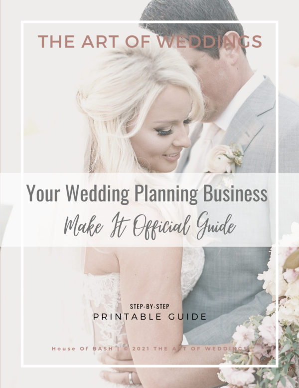 register your wedding planning business