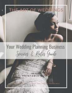 What to charge for your wedding planning services