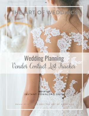 Wedding Vendor List Tracker