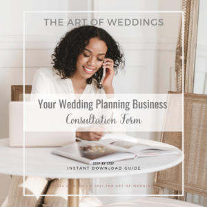 Consultation Form For Wedding Planners