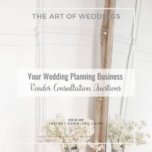 Wedding Vendor Consultation Questions
