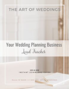 Lead trackers for wedding planners