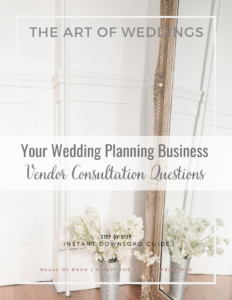 Wedding Vendor Consultation Questions